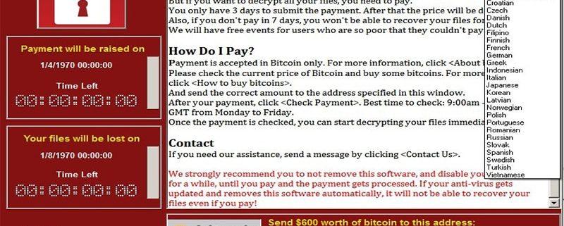 انتشار ویروس کامپیوتری Ransom