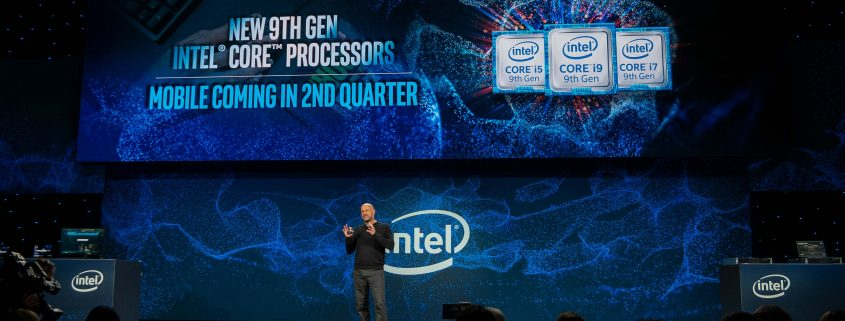 intel 9th generation chip ces 2019 845x321 - محصولات جدید اینتل در رویداد سانفرانسیسکو ۲۰۱۹