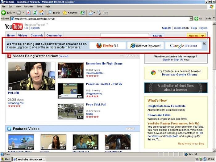 89881add 2a32 4029 8723 a3491f0afff2 - مهندس سابق گوگل، نقشه یوتیوب برای حذف اینترنت اکسپلورر ۶ را فاش کرد