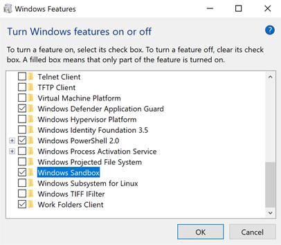 sb1 - Windows Sandbox