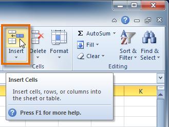 1 3 2 2 - وارد کردن سطرهای جدید Excel