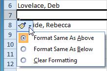 1 3 2 4 - وارد کردن سطرهای جدید Excel